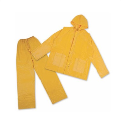 Rainsuit-Yellow-PVC-With-Hood-2-Piece